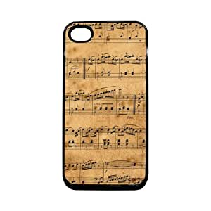 Vintage Musical Notes Thinshell Case Protective iPhone 4 Case iPhone 4S Case