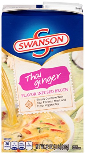 Swanson Flavor Infused Broth, Thai Ginger, 32 Ounce (Pack of 8) (Chicken Flavor Soup compare prices)