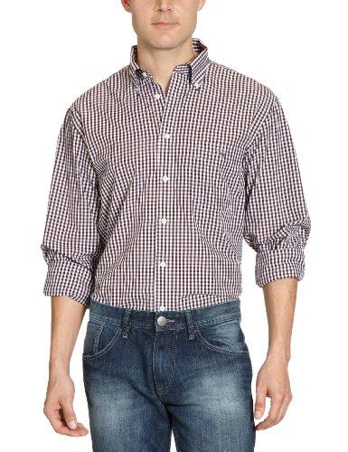 Gant The Gingham Robd Men's Casual Shirt Brown/Espresso Large