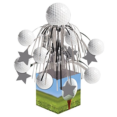Creative Converting Sports Fanatic, Golf Centerpiece with Mini Cascade and Base, White - 1