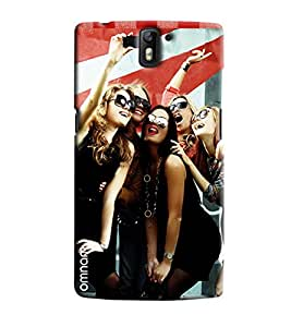 Omanm Five Girls Taking Selfie And Smiling Printed Designer Back Cover Case For One Plus One