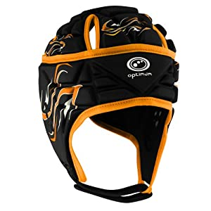 Optimum Men's Inferno Headguard - Black/Orange, Small