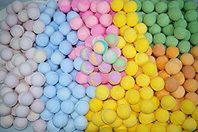 Bath Bombs 50 Pack Individually Wrapped Assorted Colors and Scents