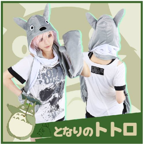 [Cap makes high quality and my Neighbor Totoro! ] Halloween Cap + scarf + glove or Pocket integrated Cap Totoro was spent (big Totoro Hat) costume Pokemon and Pokemon and anime clothing costume Cap (hat) / fancy dress / costume / event supplies and party