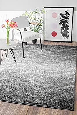 Contemporary Ombre Waves Polypropylene Area Rugs
