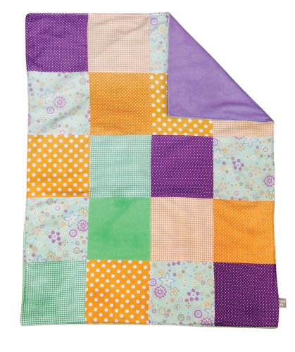 Trend Lab Multi-Patched Receiving Blanket, Jelly Bean (Discontinued by Manufacturer)