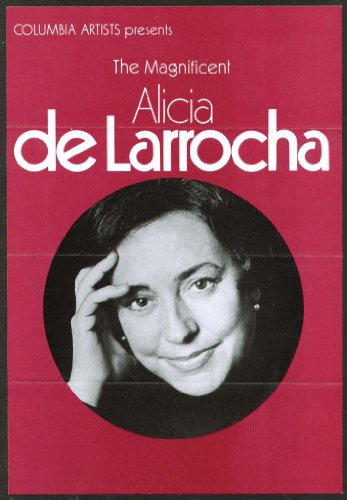 Pianist Alicia De Larrocha Flyer Bushnell Hartford 1979