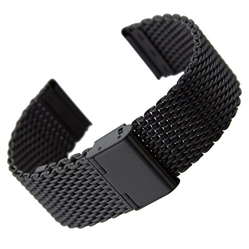 geckotar-milanaise-maschen-metall-uhrenarmband-satin-schwarz-22mm