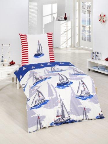 preise vergleichen bettw sche segelboot maritim nordsee meer maritime renforce bettw sche neu. Black Bedroom Furniture Sets. Home Design Ideas