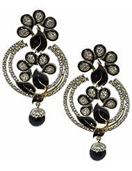 Akshim Black Alloy Earrings For Women - B00NPYBXO0
