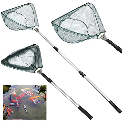 Gotobuy Folding Handle Fishing Landing Net 3 Section Extendi