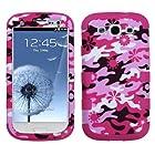 Phonetatoos (TM) for Galaxy S III (i747/L710/T999/i535/R530/i9300) Pink Flower Camo/Hot Pink TUFF Hybrid Phone Protector Cover - Lifetime Warranty