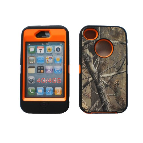 IPHONE 4 4S : Tough Grass Camo Shockproof Dirtproof Defender Case Cover at Amazon.com