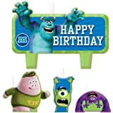 Monsters University Happy Birthday Molded Cake Candle Set 4pcs