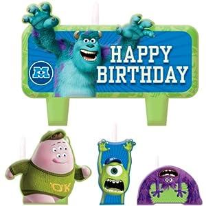 Monsters University Inc. Molded Cake Candle Set (4pc)