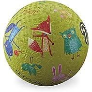 Crocodile Creek Woodland Animals Playground Ball, Lime Green, 5