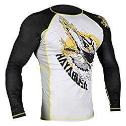 Hayabusa MMA Ninja Falcon Long Sleeve Rash Guard - Black-Yellow