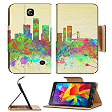 buy Samsung Galaxy Tab 4 7.0 Inch Flip Pu Leather Wallet Case Watercolor Art Print Of The Skyline Of Detroit United States Image 31181691 By Msd Customized Premium