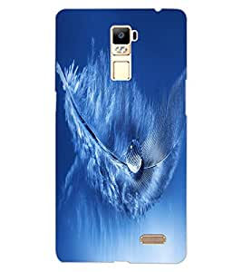 ColourCraft Droplet on Feather Design Back Case Cover for OPPO R7