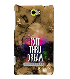 PRINTVISA Quotes Case Cover for HTC 8S