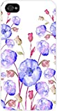 03-Watercolor Florals Hard Plastic Case in White - for the Apple Iphone 5, 5s Universal (not the 5c)