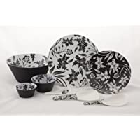 Valerio - Black Forest - Premium Melamine Dinner Set - Dual Colour
