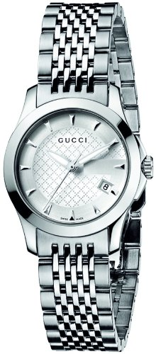 Gucci Women's YA126501 G-Timeless Silver Dial Stainless-Steel Bracelet Watch
