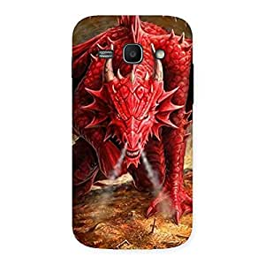 Impressive Red Fantastic Dragon Back Case Cover for Galaxy Ace 3