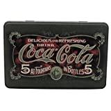 Vintage Coca Cola Rectangle Tin Biscuits Storage Retro Dark Green Classic Design