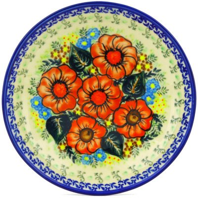 Polmedia Polish Pottery 9-Inch Stoneware Pasta Bowl H6607F Hand Painted From Cer-Maz In Boleslawiec Poland. Shape S198C(102) Pattern P6526A(D109) Unikat