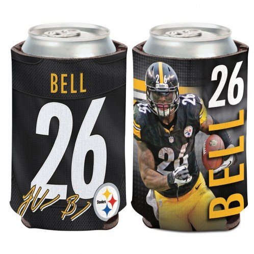 NFL Pittsburgh Steelers Can Cooler 12 oz. LeVeon Bell Limited Can Koozie at Steeler Mania