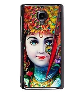 Lord Krishna 2D Hard Polycarbonate Designer Back Case Cover for Xiaomi Redmi 1S :: Xiaomi Redmi 1