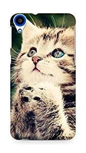 Amez designer printed 3d premium high quality back case cover for HTC Desire 820 (Cute cat)