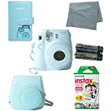 Fujifilm Instax Mini 8 Instant Film Camera (Blue) 5 Pack Bundle