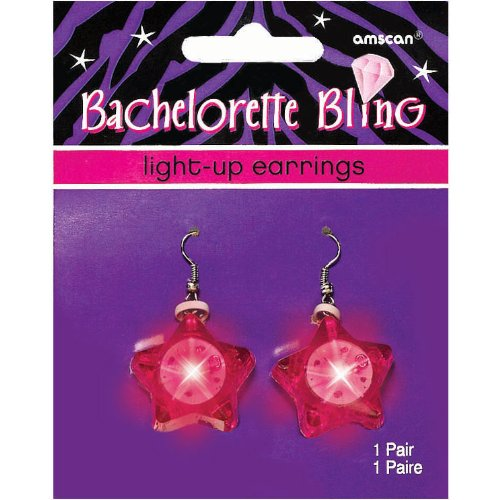 Bachelorette Party Light-Up Diamond Earrings