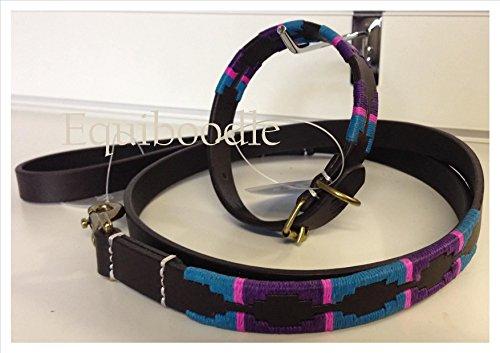 polo-estilo-collar-de-perro-con-ganadero-sin-plomo-elegir-tamano-juego-de-color-color-purple-turquoi