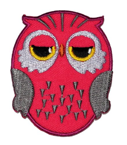 Diy Cute Owl Cartoon Applique Embroidered Sew Iron On Patch Ow-009