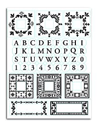 Martha Stewart Crafts Stamp, Flourished Monograms