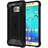 Cubix Impact Hybrid Armor Defender Case For Samsung Galaxy S6 Edge+ (Black)