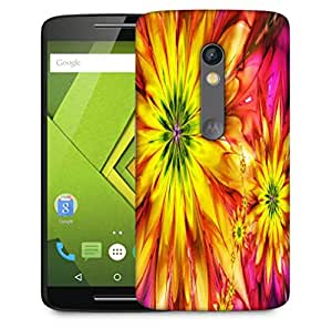 Snoogg Bright Fractal Daisies 2597 Designer Protective Phone Back Case Cover For Motorola Moto X Play