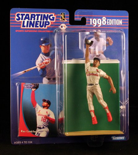RAY LANKFORD / ST. LOUIS CARDINALS 1998 MLB Starting Lineup Action Figure & Exclusive Collector Trading Card