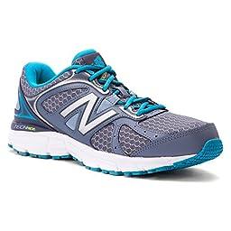 New Balance Women\'s W560V6 Running Shoe, Grey/Silver/Sea Glass, 8 B US