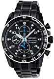 Seiko Men's SNAE77 Stainless Steel Analog with Black Dial Watch thumbnail
