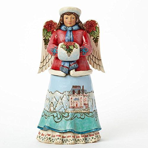 Jim Shore for Enesco Heartwood Creek Winter Wonterland Angel Figurine, 9.5-Inch