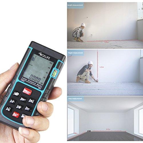 Tacklife Portable Laser Measure 328feet Min In Ft Laser Distance Meter Digital Rangefinder With
