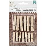 American Crafts 13-Piece DIY Shop Wooden Clothespins