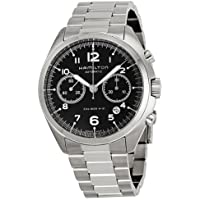 Hamilton Pilot Pioneer Automatic Chronograph Black Dial Stainless Steel Mens Watch (H76416135)