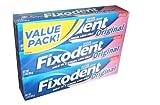 Fixodent Denture Adhesive Cream Original 2.4 oz Set of 3 by Fixodent