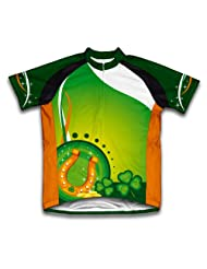 St. Patrick's Day Horse Shoe Short Sleeve Cycling Jersey for Women