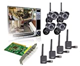 51JUqYm%2BqBL. SL160  Lorex QLR464WB 4 Channel PCI DVR Card with 4 Digital Wireless Indoor/Outdoor Night Vision Camera
